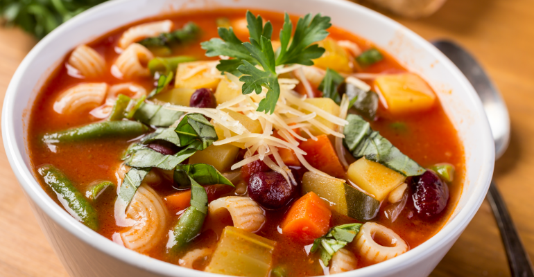 8 supper ideas minestrone soup
