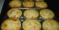 rhubarb lemon lime cornmeal muffins